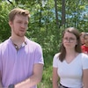 Hubert-Jacob Tardif et Virginie Martin, coprosidents de l'Éco comité de l'école secondaire De Rochebelle