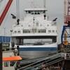 Le Saaremaa au port de Cuxhaven en attendre d'être réparé.