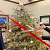 Le ministre associé de la Réduction de la bureaucratie, Grant Hunter, et le ministre de l'Agriculture et des forêts de l'Alberta, Devin Dreeshen, devant un sapin de Noël.