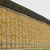 Le crib de la Ferme Michaudville mesure 450 mètres et peut contenir 1200 tonnes de maïs.