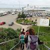 Les randonneurs ont pris le traversier à Souris, sur l'Île-du-Prince-Edward, samedi.