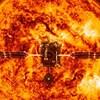 Une illustration de la sonde devant le Soleil.