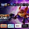 Écran d'accueil de la PlayStation 5 mettant en vedette l'animal fictif et un robot du jeu «Ratchet and Clank».