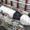Une fusée Falcon 9 de SpaceX dans le hangar du Centre spatial Kennedy de la NASA en Floride le 9 novembre 2020.
