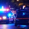Véhicules de police à Montréal.