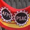 Un drapeau du syndicat.
