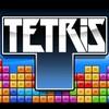 Logo du jeu Tetris avec des blocs Tetris en arrière-plan.