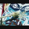 Un tambour artisanal autochtone.