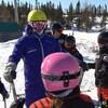 De jeunes skieurs au Mont Gallix