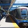 Un train du Skytrain, système de transport en commun du Grand Vancouver.