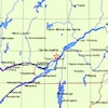 Carte de la région de Mascouche.