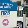 Entrée de l'urgence de l'hôpital IWK en mai 2018.