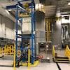 Un gros plan de l'intérieur de l'usine