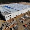 Le chantier de la future usine Tesla.
