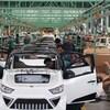 Une usine d'assemblage de véhicules électriques à Zouping, en Chine.