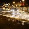 Le fleuve Saint-Laurent est sorti de son lit, jeudi soir.