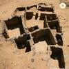La structure découverte par les archéologues vue des airs.