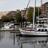 Des bateaux dans le Inner Harbour à Victoria.