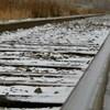 La voie ferrée qui longe le boulevard Versant-Nord