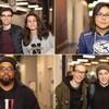 Un montage de quatre photos sur lesquelles de jeunes hommes et de jeunes femmes sourient en regardant vers l'appareil photo.