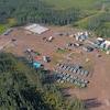 Vue aérienne d'un site d'exploitation minière.