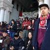 Des manifestants devant l'Assemblée législative de la C.-B.