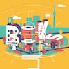 Une illustration du mot «Book» qui sert d'affiche pour le festival Word On The Street.