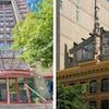 Les façades de l'hôtel YWCA de Vancouver et du Skwachàys Lodge and Gallery.