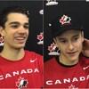 Campbell, Bucheler et Gosselin répondent aux médias après un match du Défi mondial junior A.