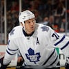 David Clarkson dans l'uniforme des Maple Leafs en 2015