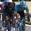 Hugo Houle en action au Tour de France