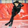 Isabelle Weidemann effectue un virage sur la glace