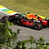 Max Verstappen roule sur le circuit de Sao Paulo au Brésil.