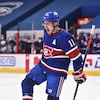 Brendan Gallagher sur la glace démontrant beaucoup d'émotions.