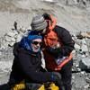 Sylvain Poissant en compagnie de sa conjointe Martine Théorêt, au pied de l'Everest, dans la vallée de Gyoko, au Népal. C'était en 2017.