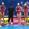 L'équipe canadienne de water-polo pendant les Championnats du monde de la FINA