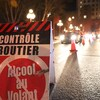 Une pancarte indiquant qu'un contrôle routier est en cours.