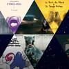 Les pochettes de 16 des 50 meilleurs albums de l'année 2018 placés dans des formes triangulaires. Certains triangles sont laissés vides, bleus foncés avec des points blancs ce qui peut évoquer un ciel étoilé.