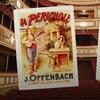 Montage de photos du visage d'Offenbach et d'une affiche ancienne de l'opéra