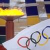 La flamme olympique des Jeux de Calgary.
