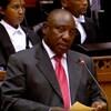 Cyril Ramaphosa parle devant le parlement sud-africain après son élection comme président intérimaire du pays en février 2018.