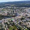 La ville d'Amqui dans la Matapédia en Gaspésie