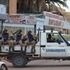 Les forces de sécurité dans la capitale du Burkina Faso, Ouagadougou.