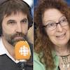 Seteven Guilbeault, Monique Pauzé et Daniel Green au micro d'Alain Gravel.