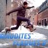 Marc-André Carignan en train de sauter par-dessus une flaque d'eau.