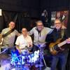 Les membres du groupe Blaze Project : de gauche à droite : Serge Blais, Pat Trudel, Dany St-Gelais et Jacques Roy