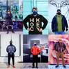 Collage de huit portraits de passants masqués photographiés par Paul Perrier.