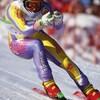 Brian Stemmle du Canada participe au super géant aux Jeux olympiques d'hiver de Lillehammer de 1994.
