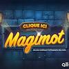 Un dessin d'un mur de briques avec deux lampions en haut du titre Magimot qui est un jeu du site web Alloprof. Les jeunes peuvent y pratiquer la dictée.