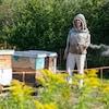 Marie-Pierre Fortier, apicultrice et propriétaire de l'entreprise Herbamiel à Sacré-Coeur